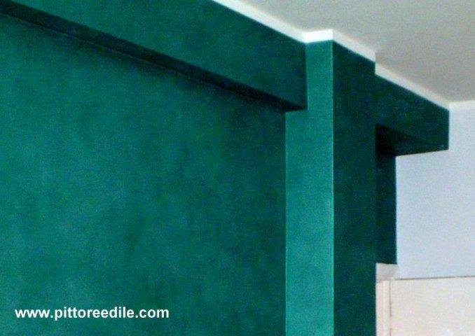 Parete pittura iridescente effetto ferro battuto - Vernice per pareti ...