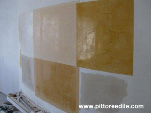 Campioni di stucco spatolato parete curva imbianchino - Stucco decorativo per pareti ...