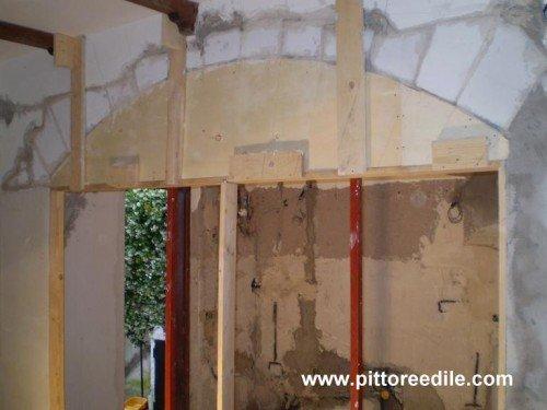 Realizzazione arco in muratura foto 1 prima - Rivestimento archi da interno ...