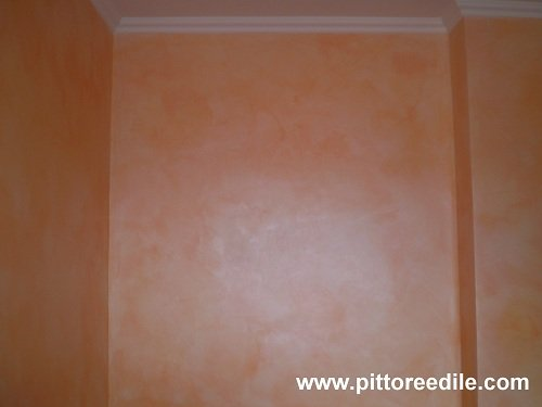 Decorazione pareti - velatura perlescente - Imbianchino Roma