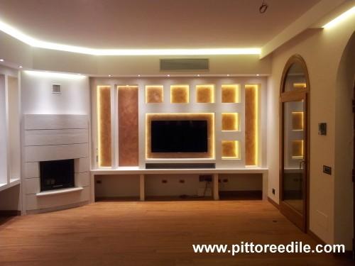 Immagine 5 16 arredamenti in cartongesso for Pareti salone