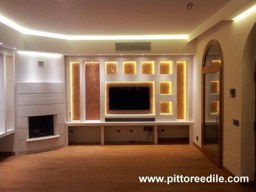 Immagine 16 18 arredamento cartongesso salone - Mobili in cartongesso foto ...