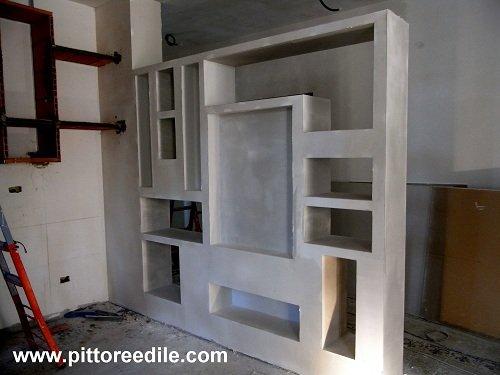 Arredamenti in cartongesso mobili armadi nicchie - Mobili di cartongesso ...