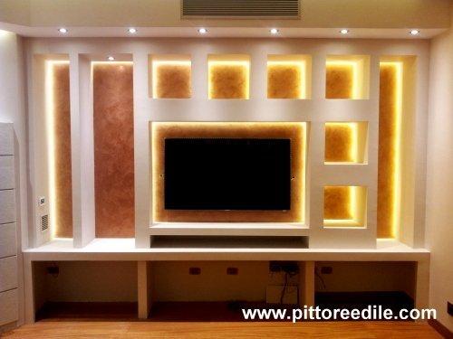 Casa immobiliare accessori pareti cartongesso for Costruire porta tv